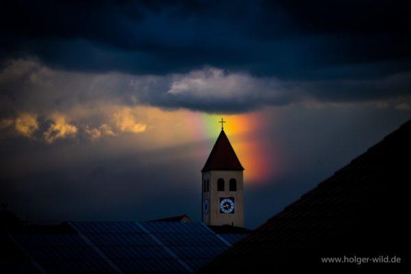 20170524 Abendstimmung Regenbogen über der Marienkirche
